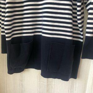 Adrienne Vittadini Sweaters - Adrienne Vittadini Sport Navy Pocket Sweater